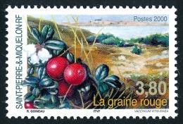 ST-PIERRE ET MIQUELON 2000 - Yv. 710 ** TB  Faciale= 0,58 EUR - Flore : La Graine Rouge ..Réf.SPM10976 - Neufs