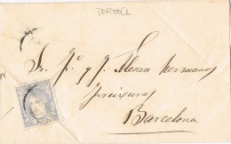16030. Carta Entera TORTOSA (Tarragona) 1871. Alegoria - 1868-70 Gobierno Provisional