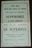 """Vieux Papiers - Guerre Militaria Tickets De Rationnement Pain """" Pour Ceux Qui Sont Au Front """" - Dokumente"""