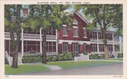 Iowa Des Moines Clayton Hall Fort Des Moines - Des Moines