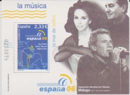 D 1111) Spanien 2006 Mi# 4167 Block 154 **: Gitarren Spieler, Sänger - 2001-10 Unused Stamps