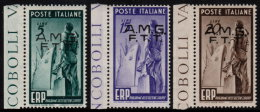~~~ Italia Triest AMG FTT  1949 - ERP Marshall Plan - Mi. 67/69  ** MNH - CV 30.00 € ~~~ - Nuovi