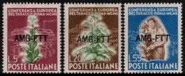 ~~~ Italia Triest AMG FTT 1950  - Tobacco Conference - Mi. 115/117  ** MNH - CV 25.00 € ~~~ - Nuovi