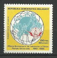 "Madagascar Aerien YT 192 (PA) "" U. P. U. "" 1986 Neuf** - Madagascar (1960-...)"