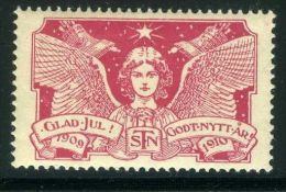 "VIGNETTE  :  "" GLAD JUL !  ""  STN  GODT NYTT AR  1909-1910 - Vignetten (Erinnophilie)"