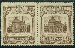 VIGNETTE  X 2 :   CONCOURS MUSIQUE  COURNAY-EN-BRAY 1908 - Cinderellas