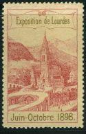 VIGNETTE :  EXPOSITION DE LOURDES JUIN-OCTOBRE 1898 - Cinderellas