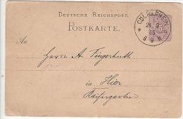 Germany: Printed Postcard From Cologne, 24 September 1885 - Briefe U. Dokumente