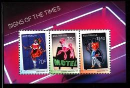 Australia MNH 2015 Souvenir Sheet Of 3 Neon Signs: Abbotsford, Surfers Paradise, Dandenong - 2010-... Elizabeth II