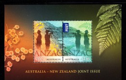 Australia MNH 2015 Souvenir Sheet Of 2 ANZAC - Joint Issue With New Zealand - Emissions Communes