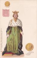 CPA King Of England Roi D' Angleterre Pièce Et Sceau RICHARD II Illustrateur - Familles Royales