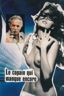 """CPSM Georges BRASSENS Erotisme Eros Nude Nu Féminin """"le Copain Qui Manque Encore"""" Illustrateur - Zangers En Musicus"""