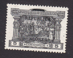 Azores, Scott #149, Mint Hinged, Portuguese Postage Due Overprinted, Issued 1911 - Azoren