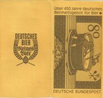 Bier - Jubiläum 1983, Sonder-Faltkarte Der Deutschen Bundespost - Beers
