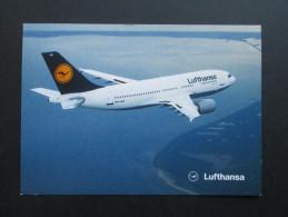 AK / Echtfoto Flugzeug Lufthansa Airbus A310 - 300. Ganzsachenausschnitt Als Frankatur. Empfänger Verzogen - 1946-....: Moderne