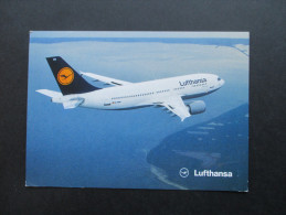AK / Echtfoto Flugzeug Lufthansa Airbus A310 - 300. Empfänger Unbekannt Verzogen - 1946-....: Moderne