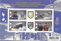 Saint Pierre And Miquelon, French Gendarmerie In North America, 2015, MNH VF - Unused Stamps