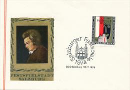 SALZBURG - 1974 , Festspiele - Poststempel - Freistempel