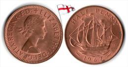 UK - ½ Penny 1967 (High Grade) - C. 1/2 Penny