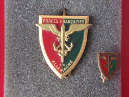 """Insignes Militaire """"Forces Françaises En Allemagne"""" -  Military Badges P.V. - - Army"""