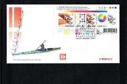 2001 - Netherlands Cover 2001-12 - Exhibitions - Philatelic Exhibition - Hafnia 01 - Copenhagen [GM023] - Poststempels/ Marcofilie