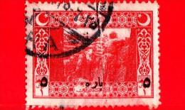 TURCHIA - Usato - Impero Ottomano - 1917 - Soldati In Trincea - 5 Sovrastampato - 1858-1921 Impero Ottomano