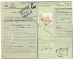 133 België Spoorwegen Document  Stempel BORNEM En MECHELEN - 1952-....