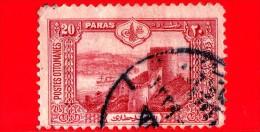 TURCHIA - Usato - Impero Ottomano - 1914 - Castello-Fortezza Sul Bosforo - Rumeli-Hisar - 20 - 1858-1921 Impero Ottomano
