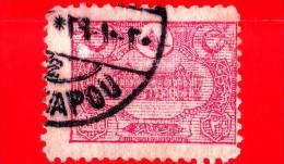 TURCHIA - Usato - Impero Ottomano - 1913 - Ufficio Postale Di Costantinopoli - Post Office - 20 - 1858-1921 Impero Ottomano