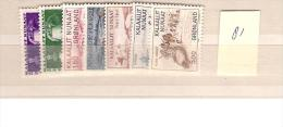 1981 MNH Greenland Year Complete, Postfris - Groenlandia