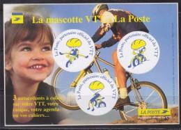 = Mascotte VTT La Poste 3 Autocollants Ronds, La Poste Partenaire Officiel Du VTT - Mountain Bike