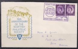 = Enveloppe Commémorant Le 75ème Anniversaire De La Société Philatélique Ecossaise Bridge Of Allan 10.04.65 - Scotland