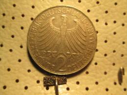 GERMANY 2 Mark 1958 D  # 3 - [ 7] 1949-… : FRG - Fed. Rep. Germany