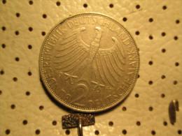 GERMANY 2 Mark 1962 J  # 3 - [ 7] 1949-… : FRG - Fed. Rep. Germany