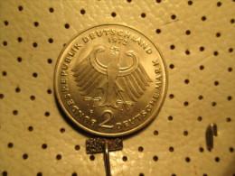 GERMANY 2 Mark 1972 F  # 3 - [ 7] 1949-… : FRG - Fed. Rep. Germany