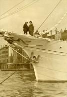France Toulon Daladier En Vacances Sur Le Yacht Vellela II Ancienne Photo 1933 - Boats