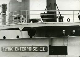 France Le Havre Arrivée Du Capitaine Carlsen Naufrage Du Flying Enterprise Ancienne Photo 1952 - Boats