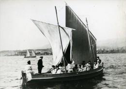 France Fort Lamalgue Ecole Navale Voilier Penurie De Charbon Ancienne Photo 1958 - Boats