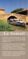Dépliant Touristique °° Canal Du Midi Port Du Somail 11 - Dépl.4volets 10x21 Bateau Blanc - Dépliants Touristiques
