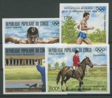 Kongo (Brazzaville) 1988 Olympiade Seoul 1125/28 B Postfrisch - Congo - Brazzaville