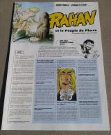 Très Grand Dépliant RAHAN (CHERET) Et Le Peuple De Pierre Année 2008 / 2009 - 4 Pages - Libri, Riviste, Fumetti
