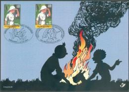 TINTIN Au CONGO KUIFJE IN BELGISCH CONGO émission Commune Belgique Avec République Démocratique Du Congo MECHELEN 31-12- - 2001-10