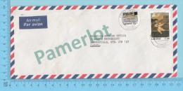 Ghana ( Aerogramme, Aerogram ,  Overprint C80.00  To Lennoxville Canada )2 Scans - Ghana (1957-...)