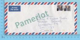 Ghana ( Aerogramme, Aerogram , 2 X  Overprint C50.00  To Lennoxville Canada )2 Scans - Ghana (1957-...)