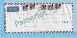 Ghana ( Aerogramme, Aerogram , Strip Of 2 And Strip Of 3  Overprint C20.00  To Lennoxville Canada )2 Scans - Ghana (1957-...)