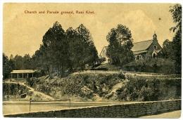 INDIA : RANI KHET - CHURCH AND PARADE GROUND - India