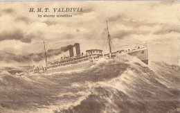H.M.T. VALDIVIA  IN STORM WEATHER  1930 - Dampfer