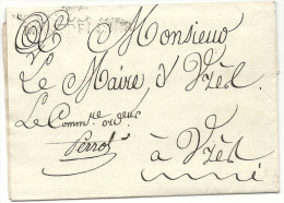 Hérault - Montpellier Pour Uzes (Gard). Marque De Franchise: Commissaire Ordonnateur PERROT. 1812 - 1801-1848: Precursors XIX