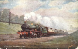 F. Moore : Great Western Railway - Plymouth Express As A  L.C.C. Reward Card. - Treni