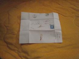 DEVANT DE LETTRE ANCIENNE DE 1859. / ROCHESERVIERE A SAUMUR. / CACHETS + OBLIT. A IDENTIFIER. + TIMBRE - Marcophilie (Lettres)